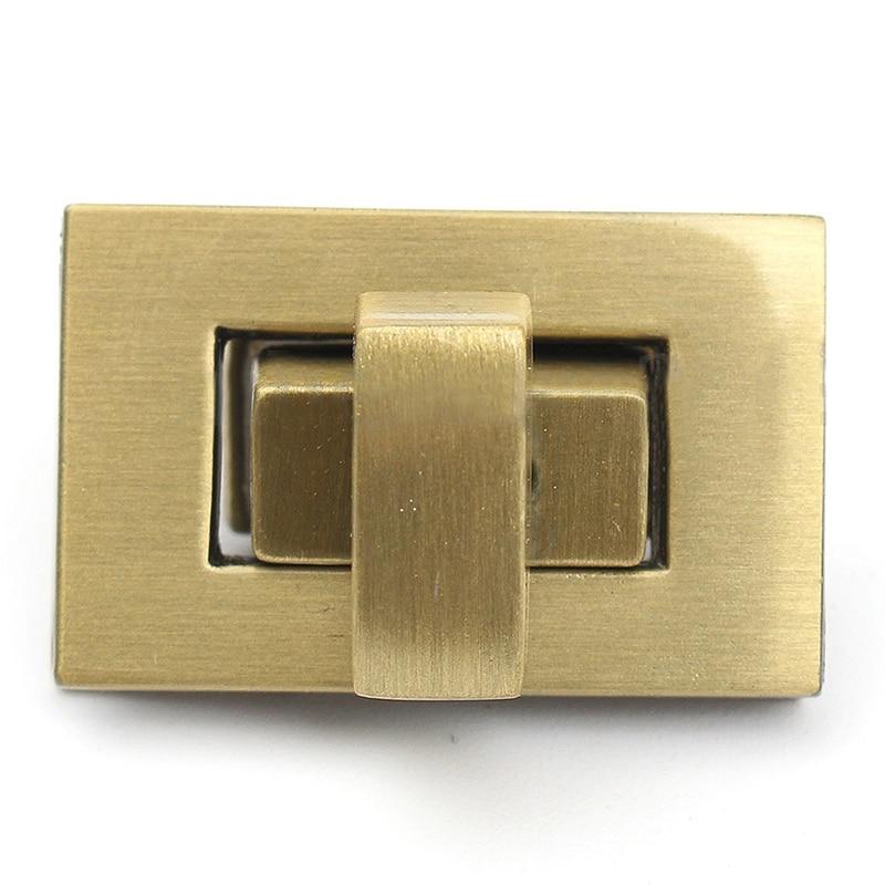 FGGS-New Rectangle Shape Clasp Turn Lock Twist Lock DIY Leather Handbag Bag Hardware twist lock saddle bag