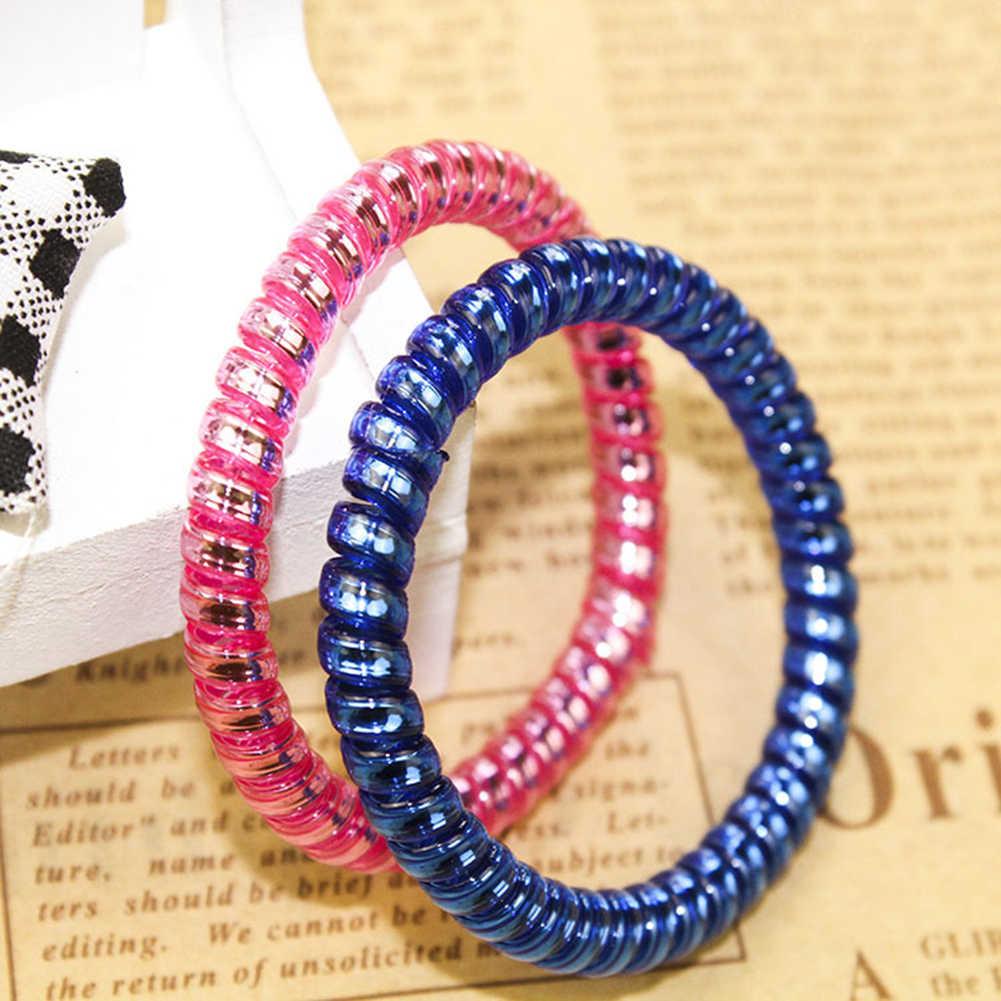 Яркие цвета, телефонный шнур, женские головные уборы, эластичные резинки для девочек, резинки для конского хвоста, держатели для волос, аксессуары для волос