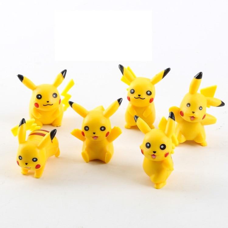 In stock 6 pcs lot High quality PVC Pikachu action figure font b toys b font