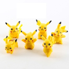 In stock 6 pcs lot High quality PVC Pikachu action figure toys Monster doll ornaments toys