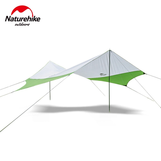 Hexagonal Sun Shelter with Pole Waterproof Awning C&ing Sunshade Canopy Beach Tent Polyester UV Protection C&ing  sc 1 st  AliExpress.com & Hexagonal Sun Shelter with Pole Waterproof Awning Camping Sunshade ...