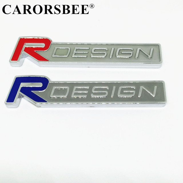 Carorsbee 3d metal r design rdesign emblem badge car stickers decals for volvo xc60 xc90 s60
