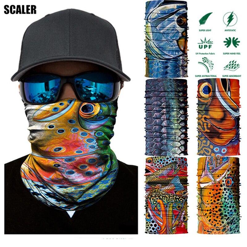 e1672e1d2d 3D Cycling Headband Magic Bandana Fishing Hiking Balaclava Scarf Sport  Quick Dry Bicycle Face Mask Fish