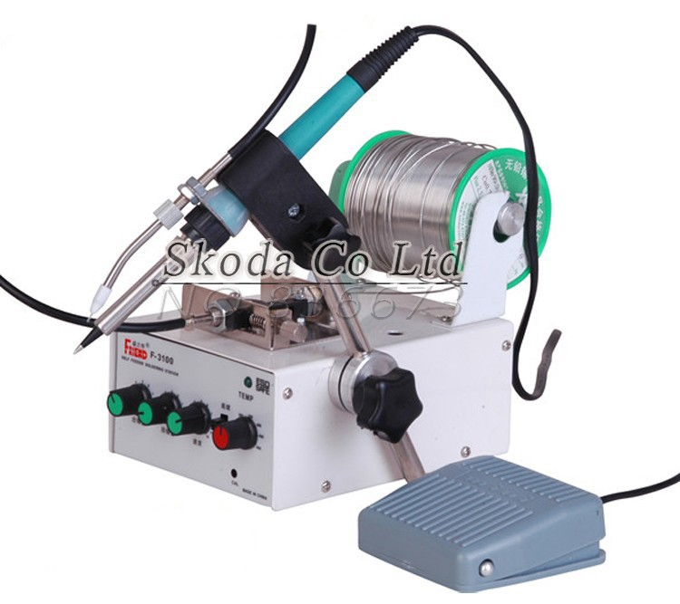 Self feeder soldering station Foot step type Foot type automatic robot gun tin welding soldering machine 60W/70W/80W/120W automatic tin feeding machine constant temperature soldering iron teclast multi function foot soldering machine f3100a