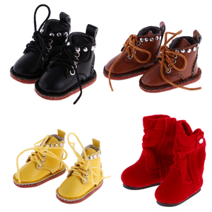 1/6 Scale Dolls Pair of Cute PU Leather Boots Shoes Fit for 12'' Blythe Doll Dress Up Dolls Fashion Shoes Dolls Accessories