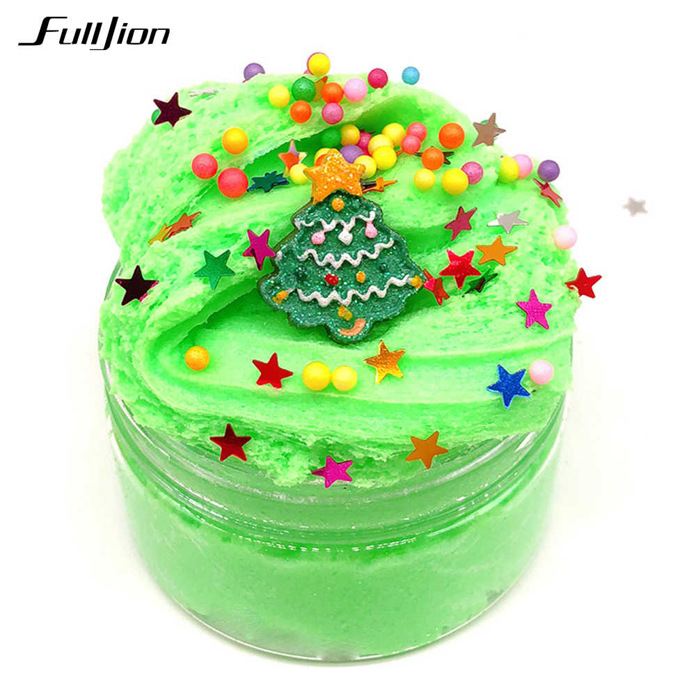 Fulljion Cloud Slime Toys Christmas Plasticine Popular Toys Modeling Clay Colored Sand Fimo Putty Fluffy Kit Slime Stress Relief