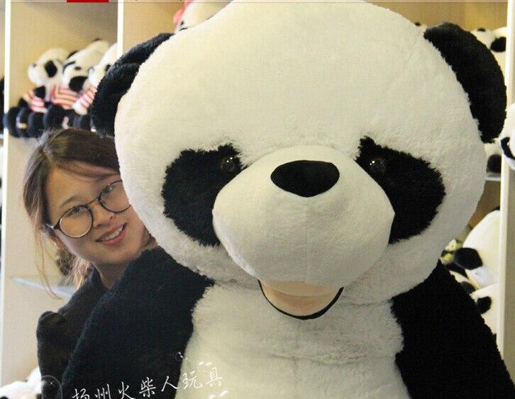 CHAUDE 180 cm en peluche panda peau manteau grand animal peau cadeaux d'anniversaire cadeaux De Noël jouets en peluche poupée - 5