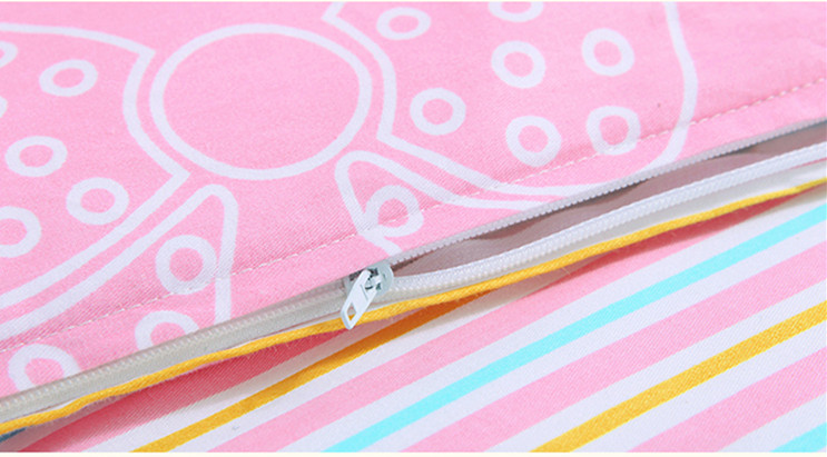 Promotion! 6PCS Cartoon Baby crib bedding set 100% cotton cot baby bedclothes (bumpers+sheet+pillow cover)