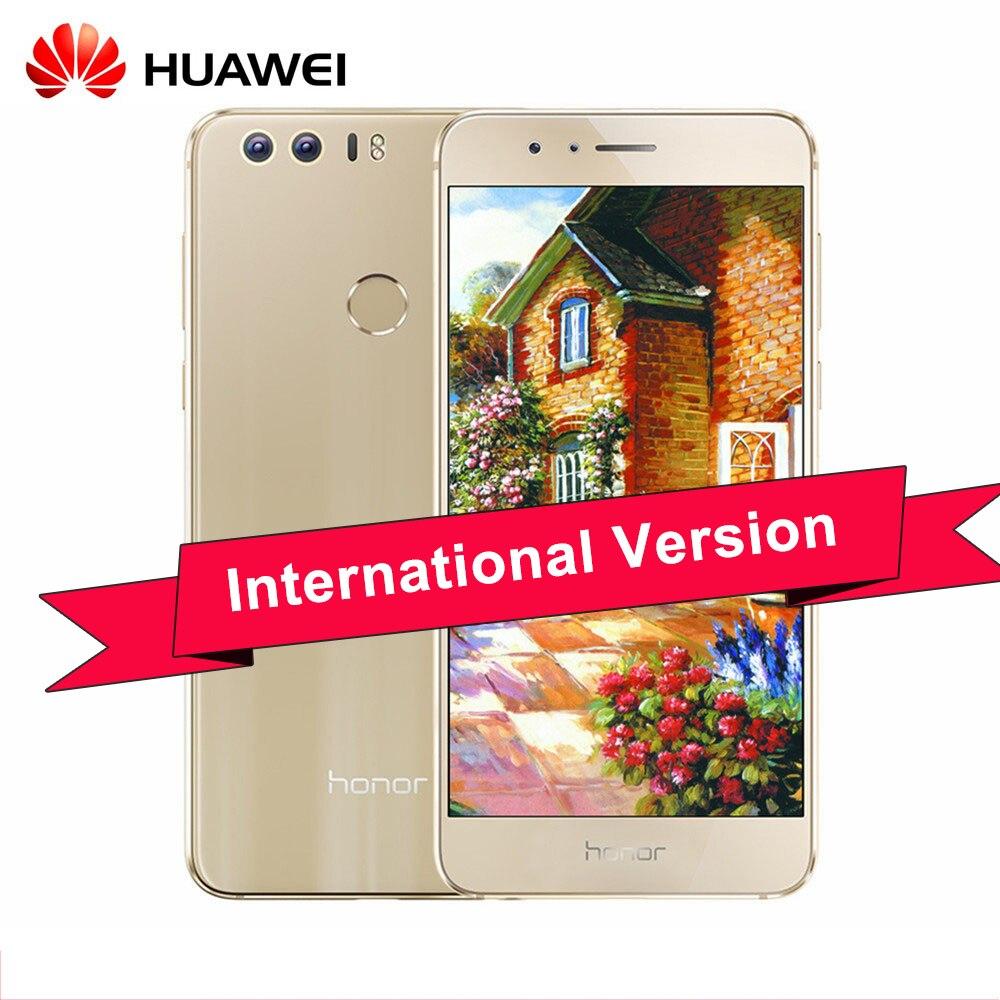"""bilder für Ursprünglicher Huawei Honor 8 5,2 """"IPS FHD Kirin 950 Android 7.0 4G TD LTE Smartphone 4 GB RAM/3264 GB ROM 12MP Touch ID"""