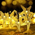 Original Starfish Solar String Lights, 30 LED Fairy Christmas Lights Decorative Lighting for Indoor/Outdoor, Garden, Home, Patio