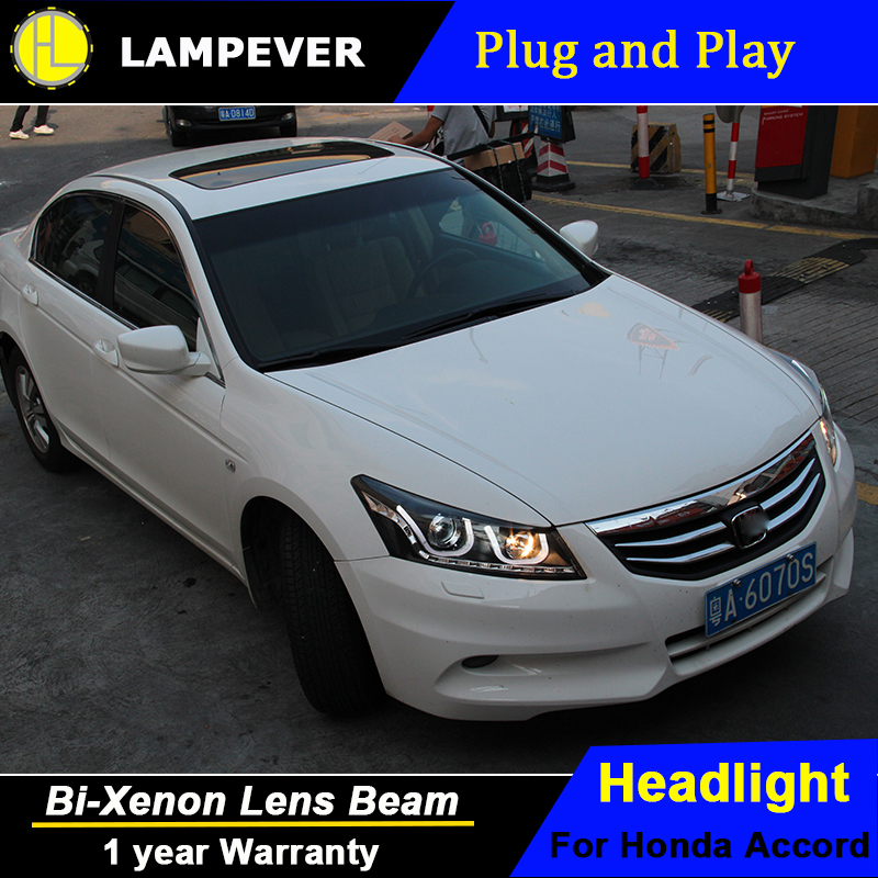 Lampever For Honda Accord Led Headlights 2008 2012 Head Lamp Double U Angel  Eye Led DRL Front Light Bi Xenon Lens Xenon HID KITS In Car Light Assembly  From ...