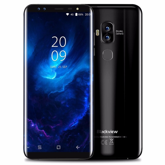 Blackview S8 5.7 дюймов HD + соотношением сторон 18:9 Экран мобильного телефона Android 7.0 mtk6750t Octa core 4 ГБ + 64 ГБ 4 камеры 4 г смартфон