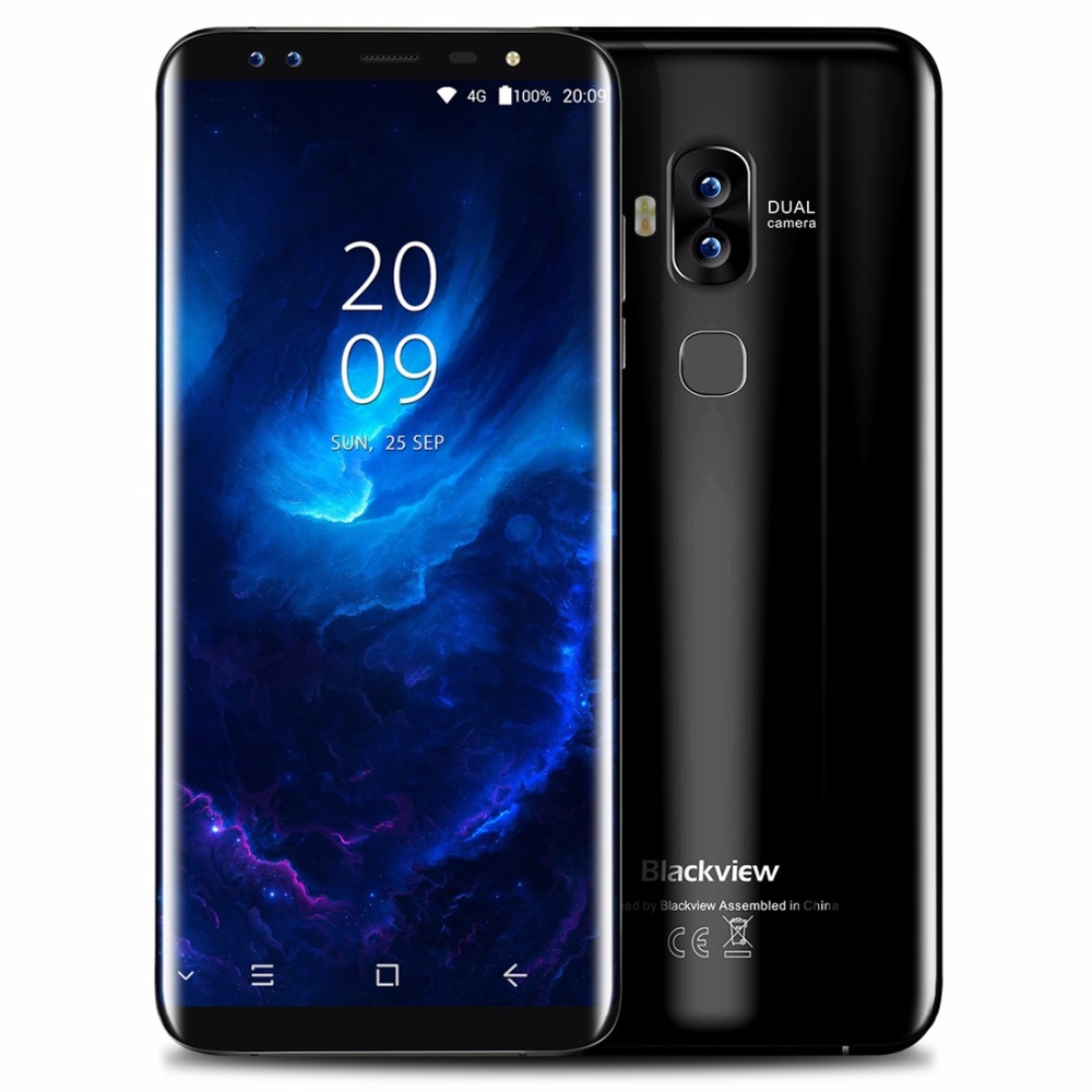 Blackview S8 5.7 Inch HD+ 18:9 Aspect Ratio Screen Mobile Phone Android 7.0 MTK6750T Octa Core 4GB+64GB 4 camera 4G Smartphone