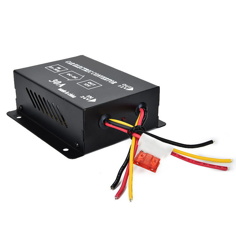 New arrival Auto 30A DC 24V To 12V Car Power Supply Inverter Transformer Electric ConvertorNew arrival Auto 30A DC 24V To 12V Car Power Supply Inverter Transformer Electric Convertor