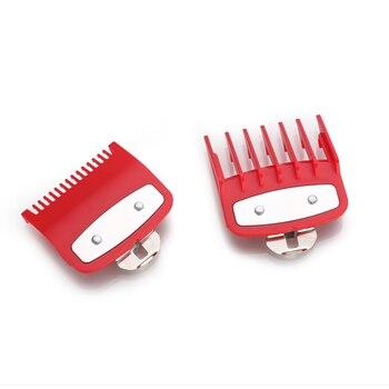 KIKI 2 размера направляющих расчесок красный 1,5 + 4,5 мм набор прикрепляемых расчесок с металлическим держателем подходит для большого размера ...