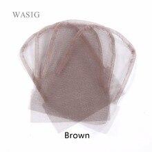 Кружева закрытия фронтальная основа 4x4 коричневый цвет из швейцарского кружева для парика шапки для изготовления закрытия
