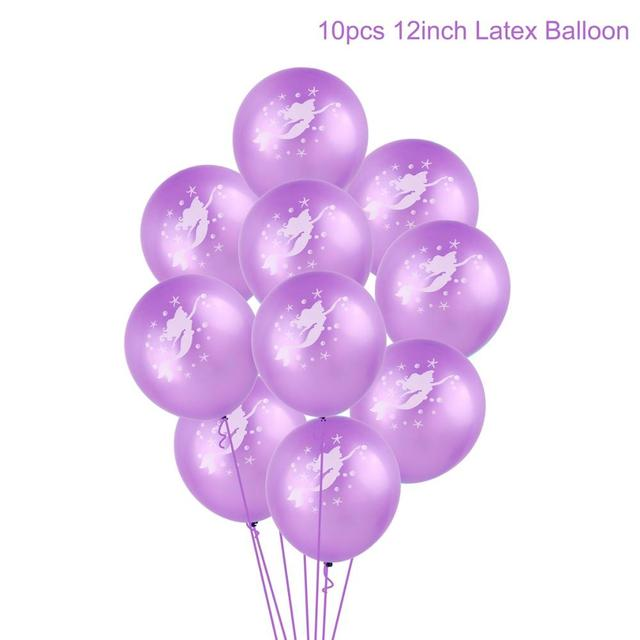 Purple balloon Mermaid party plates 5c64f5cb2f6ec
