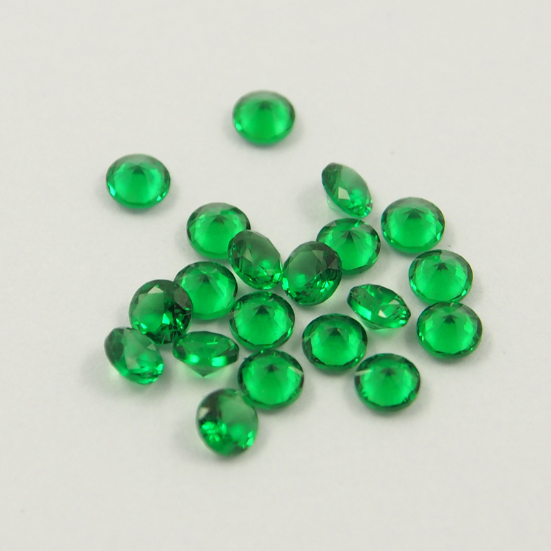 1000pcs alot Blue Sapphire stone Nano Green Gemstone Amethyst Wax Setting Heat Resistant Stone for Ring making in Beads from Jewelry Accessories