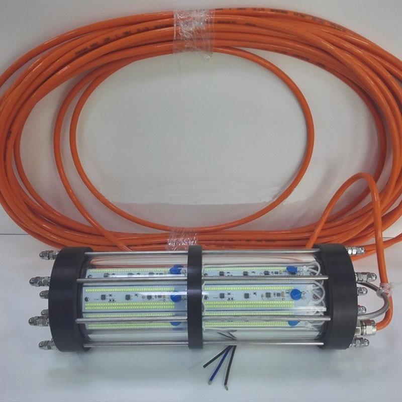 DC12V 800 Вт 15 м кабель океана рыбацкая лодка ночь рыба под водой светодио дный рыбалка огни