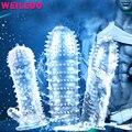 Série transparente manga pênis extensor de pénis extensão reutilizável condom adult sex toys para casais