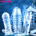 transparent series penis sleeve extender penis extension reusable condom adult sex toys for couples