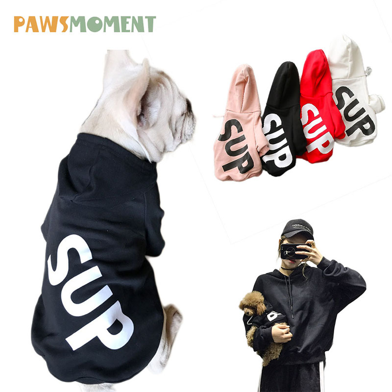 New 2018 Dog Clothes For Small Dogs French Bulldog Cotton Coat Hoodies For Dogs Spring Summer Chihuahua Pet Clothes With Letter