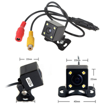 Car camera waterproof HD CCD sensor 170 4 LED parking light night vision camera