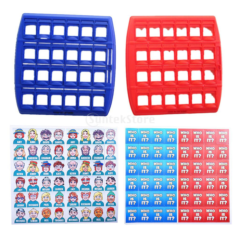 Plastic Folding Board Game Toy Who Is It Guessing Game Kids Educational Toy Funny Developing Intelligent Board Game Toy Set