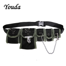 Youda Multi Pocket Hip Hop Style Tactical Package Fashion Unisex Chest Bag Trend Polyester Waist Bags Original Design Pockets