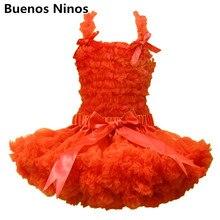 Детский комплект с юбкой-пачкой, шифоновый топ+ юбка-американка, оранжевое платье-пачка, комплект с юбкой-пачкой для девочек, 11 цветов на выбор