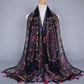 Wholeasle женщин printe приятный цветочный популярные шали чешские кисти вискоза хиджаб дизайн обертывание мусульманин шарфы/шарф 10 шт./лот