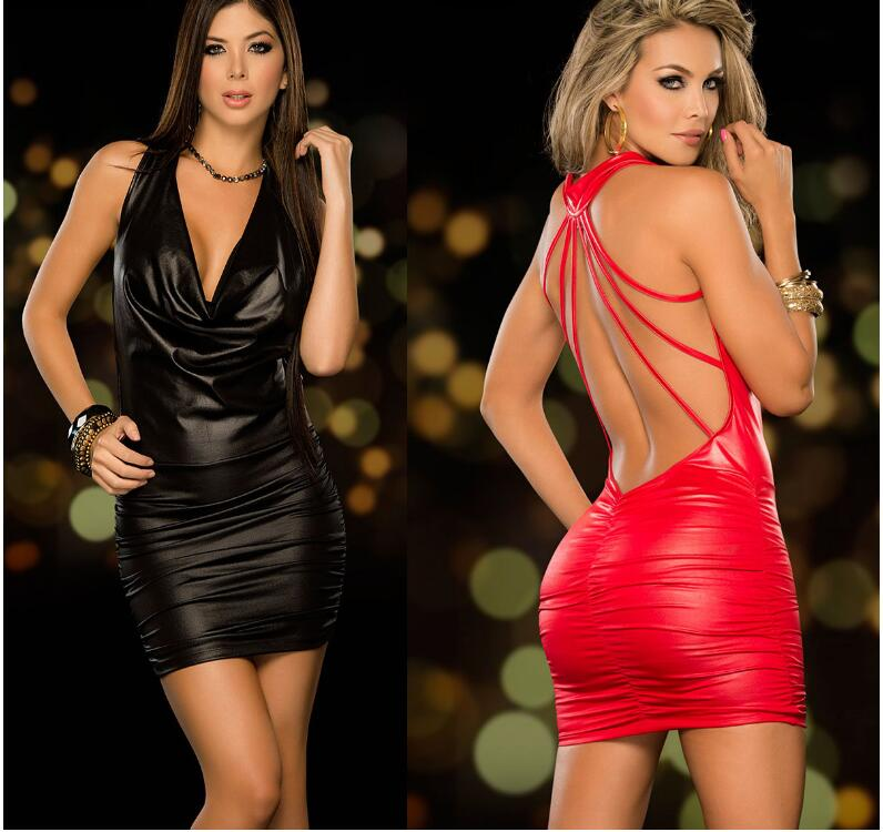 Womens Tenue Sexy Erotic Lingerie Dresses Latex Catsuit Porno Dancewear Cosplay Sexy Costumes Night Club Pole Dance Lenceria Red