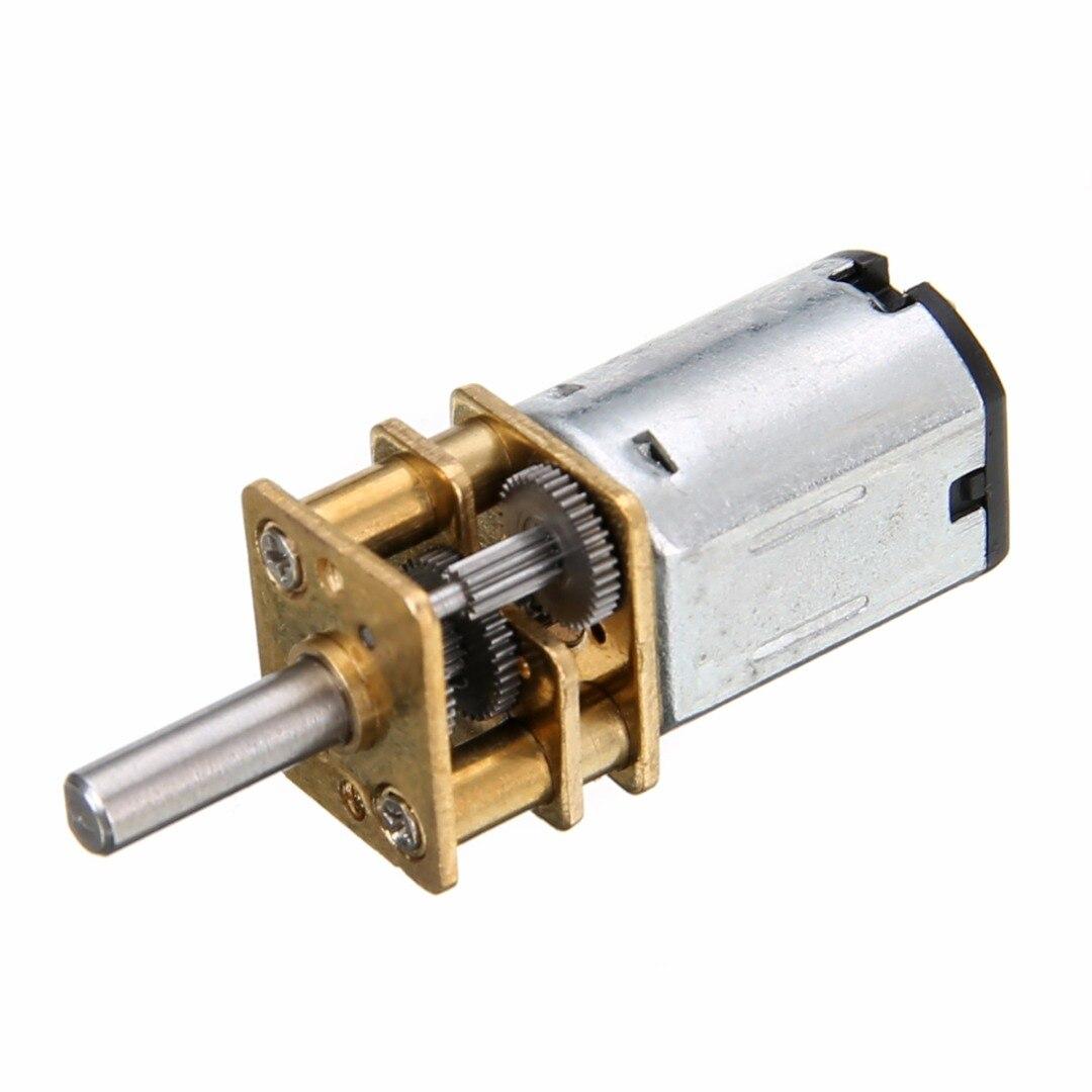1pc DC 6V 200RPM Mini Gear Motor Metal Motors Model N20 3mm Shaft Diameter with Gearwheel