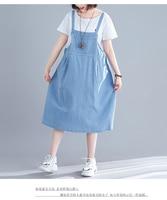 P Ammy 2019 Summer Women Strap Denim Dress Sundress Overalls Dress Casual Loose Overalls Dresses Jeans Dress