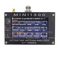 """Antena Contador MINI1300 HF/VHF/UHF Antena tester MINI-600 Frequência 0.1-1300MHZ com 4.3 """"Tela de Toque LCD Analisador de Antena"""