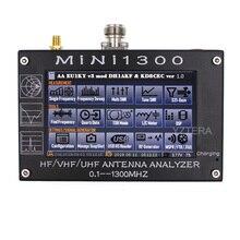 """Antenna Contatore MINI1300 HF/VHF/UHF Antenna tester MINI 600 Frequenza 0.1 1300MHZ con 4.3 """"LCD Touch Screen Analizzatore di Antenna"""
