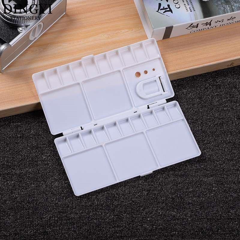 25 Grids Folding Paint Palette Tray Plastic Oil Watercolor Paint Palette Box For Gouache Acrylic Painting Drawing Art Supplies