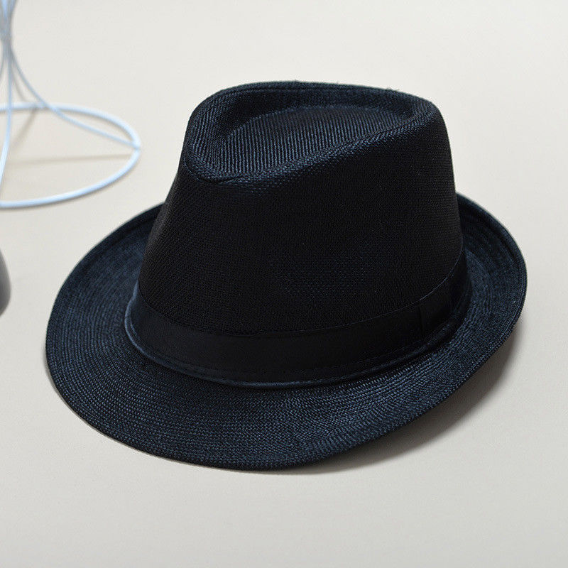Detail Feedback Questions about Fashion Summer Cool Panama Wide brim Fedora  Straw Made Indiana Jones Style Hat Blue Black on Aliexpress.com  2712bae0f29b