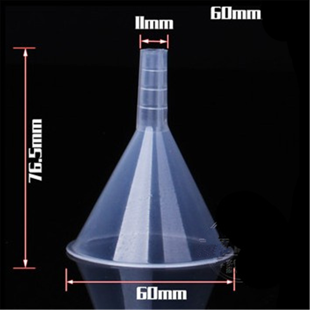 10PCS 60ML Plastic Perfume Diffuser Atomizers Vial Bottle Liquid Filling Small Clear Funnel Short Neck