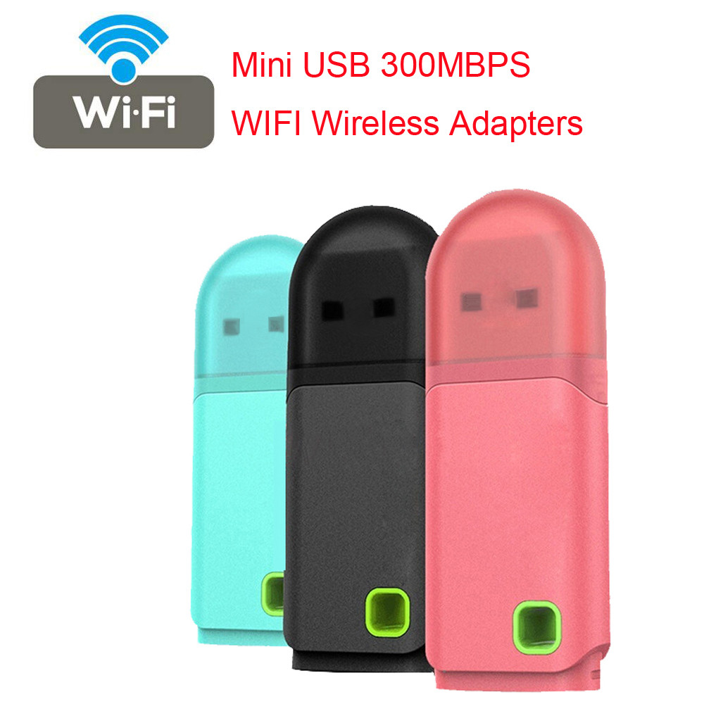 US $2 68 43% OFF Mini USB 300MBPS WIFI Wireless Adapters PC Laptop Dongle  Windows 10 8 7XP Vistas Support 20 MHz / 40 MHz bandwidth-in Network Cards