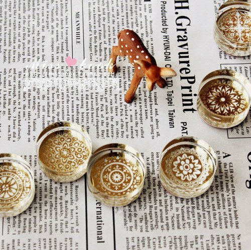 Free shipping Elegant circular pattern section! Crystal seal retro Retro crystal color seal DIY Crystal Round stamp(6styles)