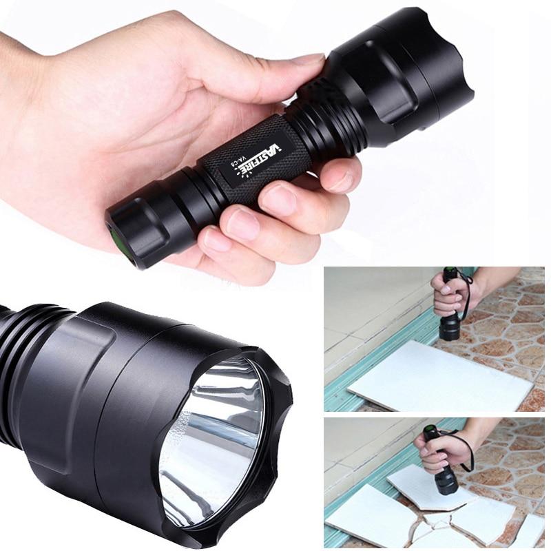 Led flashlight Ultra Bright torch T6 LED Camping Hunting light 2500LM Lanternas Self Defense Tactical Flashlight 18650 Charger in LED Flashlights from Lights Lighting