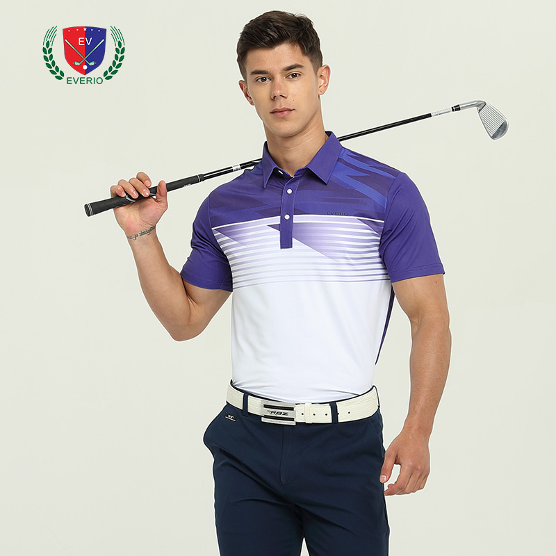 Hommes Golf t-shirts couleur match à manches courtes jersey golf appreal été sportswear Polo chemise de Golf blanc hauts 4 couleur S ~ XXL