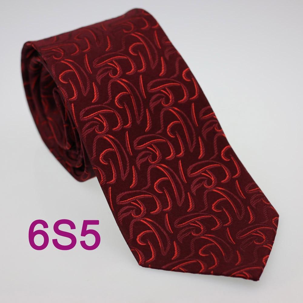 Coachella Men's ties 100% Pure Silk Tie Burgundy With Red Paisley Woven Necktie Formal Neck Tie for dress shirts Wedding