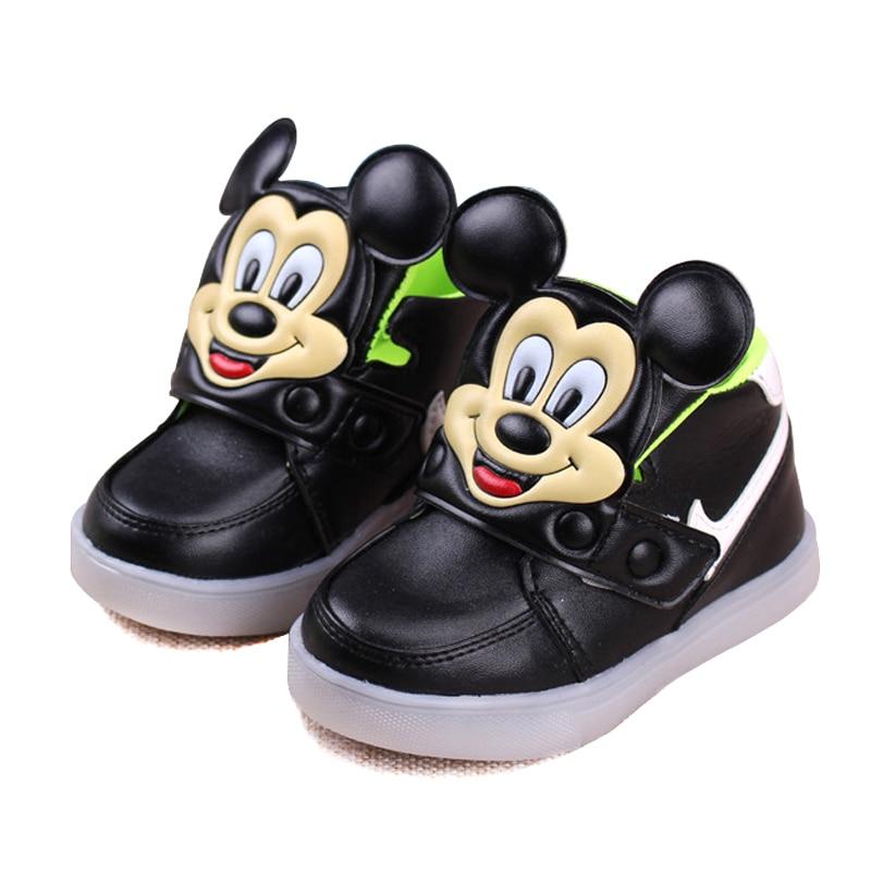beauty sports shoes factory price Dames Chaussures Enfants Chaussures Filles Bébé Mickey LED ...
