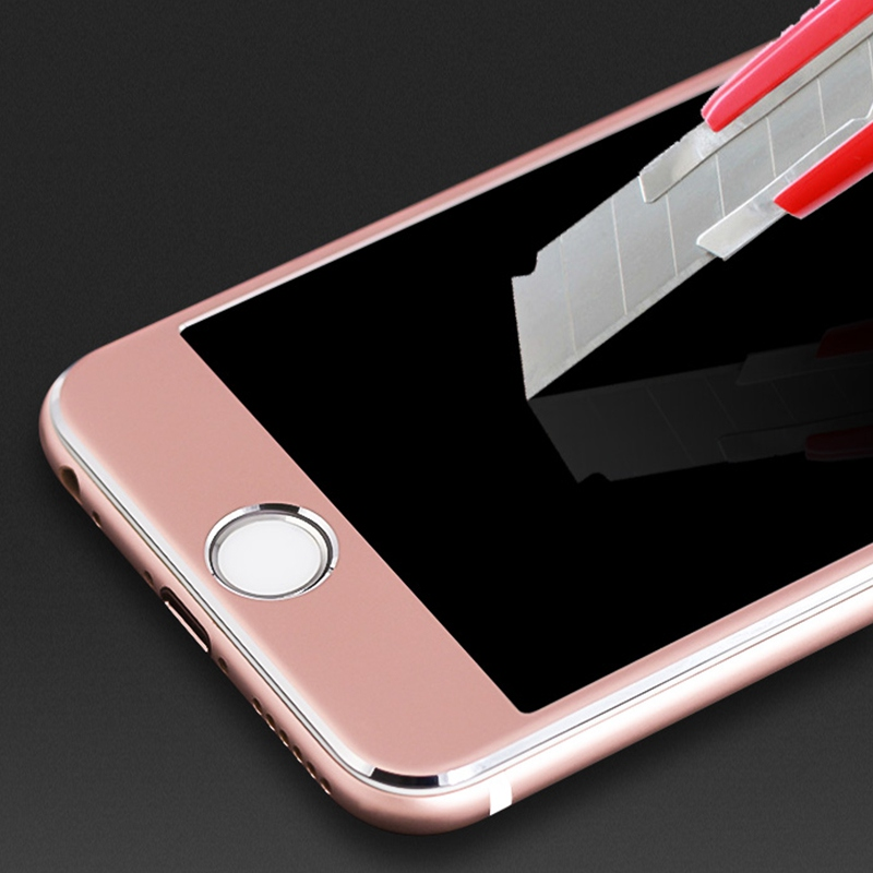For iPhone X 8 Carbon Fiber 3D Curved Soft Edge Full Screen Protector Tempered Glass Film For iPhone 8 7 6 S Plus 7 6 Protection