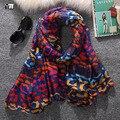 2016 мода горячие продажа красочные леопардовый voile шарф женщина долго площади леди женщины защита от солнца шаль wrap бесплатная доставка