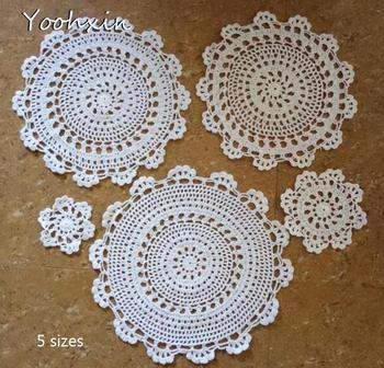 HOT lace cotton table place mat pad Cloth crochet drink placemat cup mug Christmas tea coffee dish coaster dining doily kitchen placemat for dining table world map kitchen placemat coaster dining table mats cotton linen pad bowl cup mat 42 32cm home decor