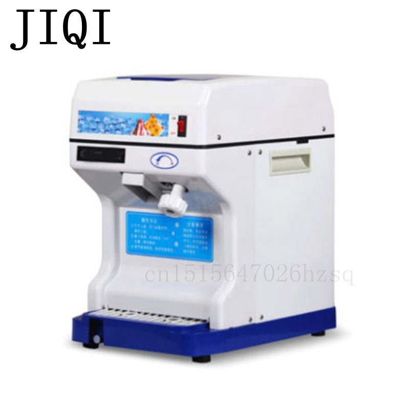 JIQI 220V/110V Household Ice Crushers Shavers electric snow ice machine snowflake maker commercial cube machine commercial use