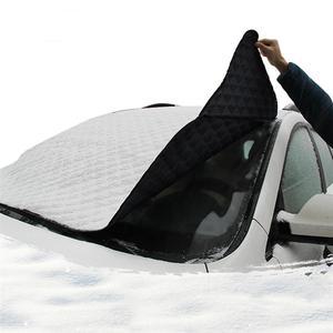 Image 2 - רכב שמשה קדמית שמשיה אבק כיסוי גשם קרח שלג מגן אנטי חום קדמי חלון רכב SUV כיסוי שמשייה Coche